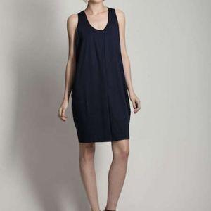 Jil Sander Convertible Neckline Navy Dress